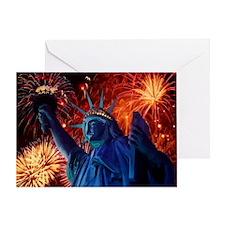 Lady_Liberty_9.25x7.75 Greeting Card