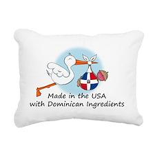 stork baby domin 2 Rectangular Canvas Pillow