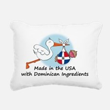 stork baby domin 2 Rectangular Canvas Pillow