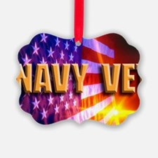 NAVY VET Ornament
