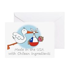 stork baby chile white 2 Greeting Card