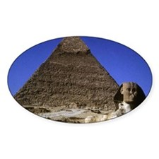 sphinx and pyramid Decal