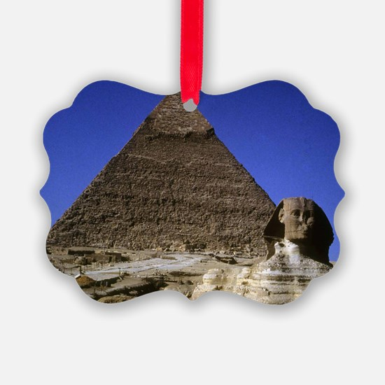 sphinx and pyramid Ornament