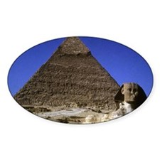 sphinx and pyramid14x10 Decal