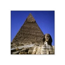 "sphinx and pyramid11x11 Square Sticker 3"" x 3"""