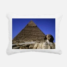 sphinx and pyramid42x28 Rectangular Canvas Pillow