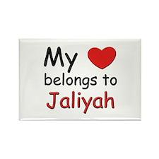 My heart belongs to jaliyah Rectangle Magnet
