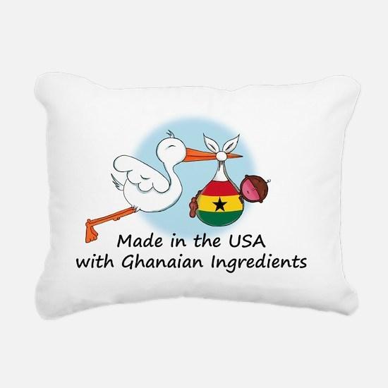 stork baby ghana 2 Rectangular Canvas Pillow