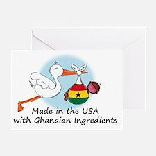 stork baby ghana 2 Greeting Card