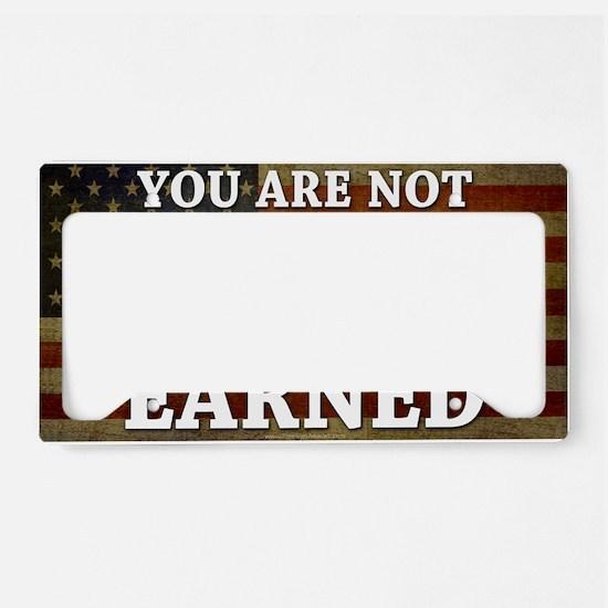 11x17_DarkFlagEntitled License Plate Holder