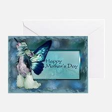 SheebaBlueWingsHMDSq Greeting Card