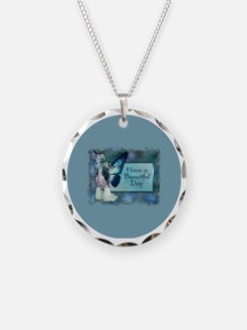 SheebaBlueWingsLGCircle Necklace