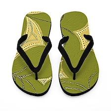 Dark Green Lilly Heart Pads 9x12 Flip Flops