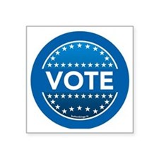 "btn-blue-vote Square Sticker 3"" x 3"""