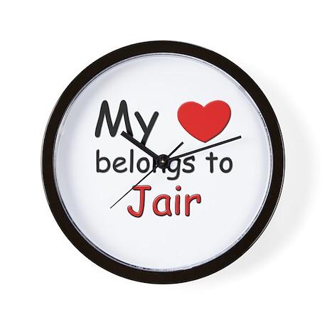 My heart belongs to jair Wall Clock