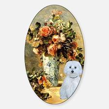 Vase - Maltese (B) Sticker (Oval)