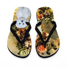 Vase - Maltese (B) Flip Flops
