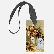 Vase - Maltese (B) Luggage Tag