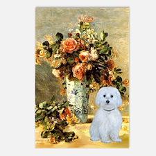 Vase - Maltese (B) Postcards (Package of 8)