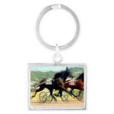 trotting power Landscape Keychain