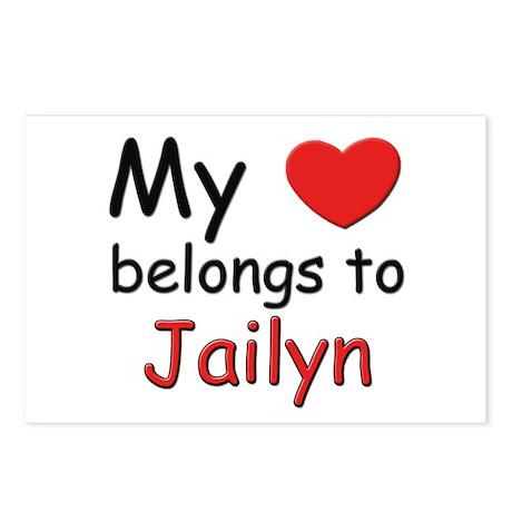 My heart belongs to jailyn Postcards (Package of 8