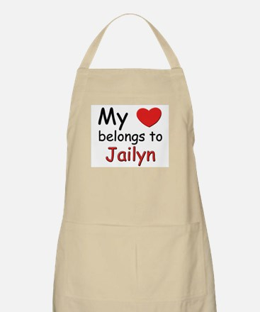 My heart belongs to jailyn BBQ Apron
