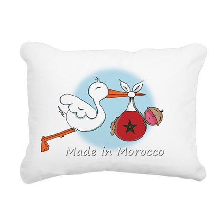 stork baby moro white Rectangular Canvas Pillow