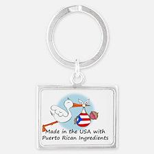 stork baby puerto 2 Landscape Keychain