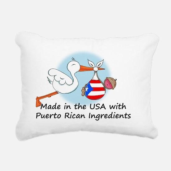 stork baby puerto 2 Rectangular Canvas Pillow