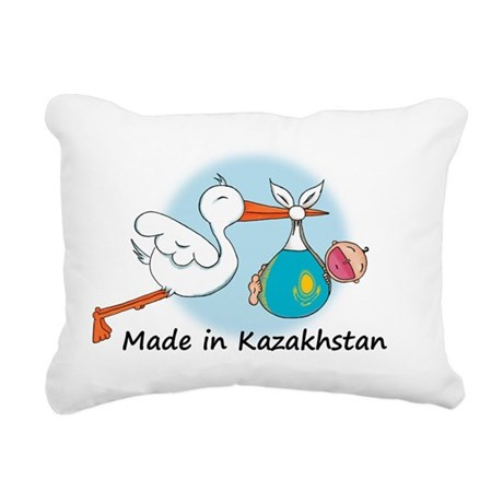 stork baby kazak Rectangular Canvas Pillow