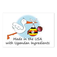 stork baby uganda 2 Postcards (Package of 8)