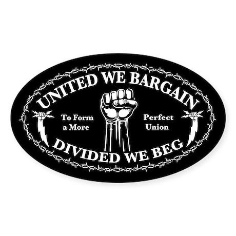 United We Bargain Sticker