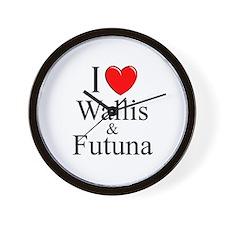 """""""I Love Wallis & Futuna"""" Wall Clock"""