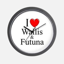 """I Love Wallis & Futuna"" Wall Clock"