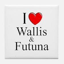 """""""I Love Wallis & Futuna"""" Tile Coaster"""