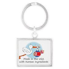 stork baby NK 2 Landscape Keychain