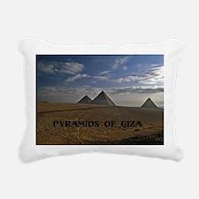 Pyramids Giza sunrise12x Rectangular Canvas Pillow