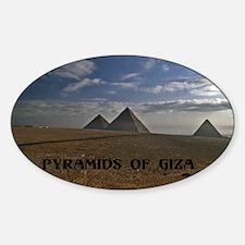Pyramids Giza sunrise12x18 Decal