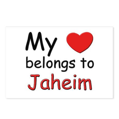 My heart belongs to jaheim Postcards (Package of 8