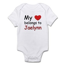 My heart belongs to jaelynn Infant Bodysuit