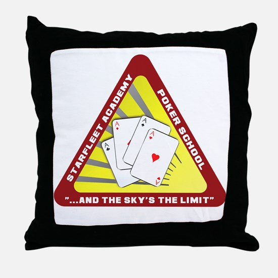 T0100B-StarfleetAcademyPoker-2000x200 Throw Pillow