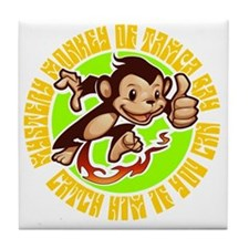 2-MONKEY Tile Coaster