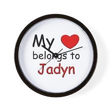 My heart belongs to jadyn Wall Clock