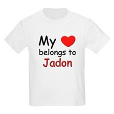My heart belongs to jadon Kids T-Shirt
