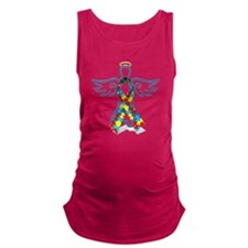 Autism Angel 10x10 Maternity Tank Top