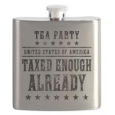 march_taxed_enough_already_black Flask