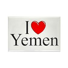 """""""I Love Yemen"""" Rectangle Magnet"""