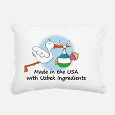 stork baby uzbek 2 Rectangular Canvas Pillow