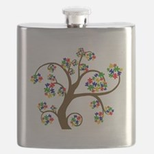 Puzzled Tree of Life Flask