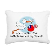 stork baby taiwan 2 Rectangular Canvas Pillow
